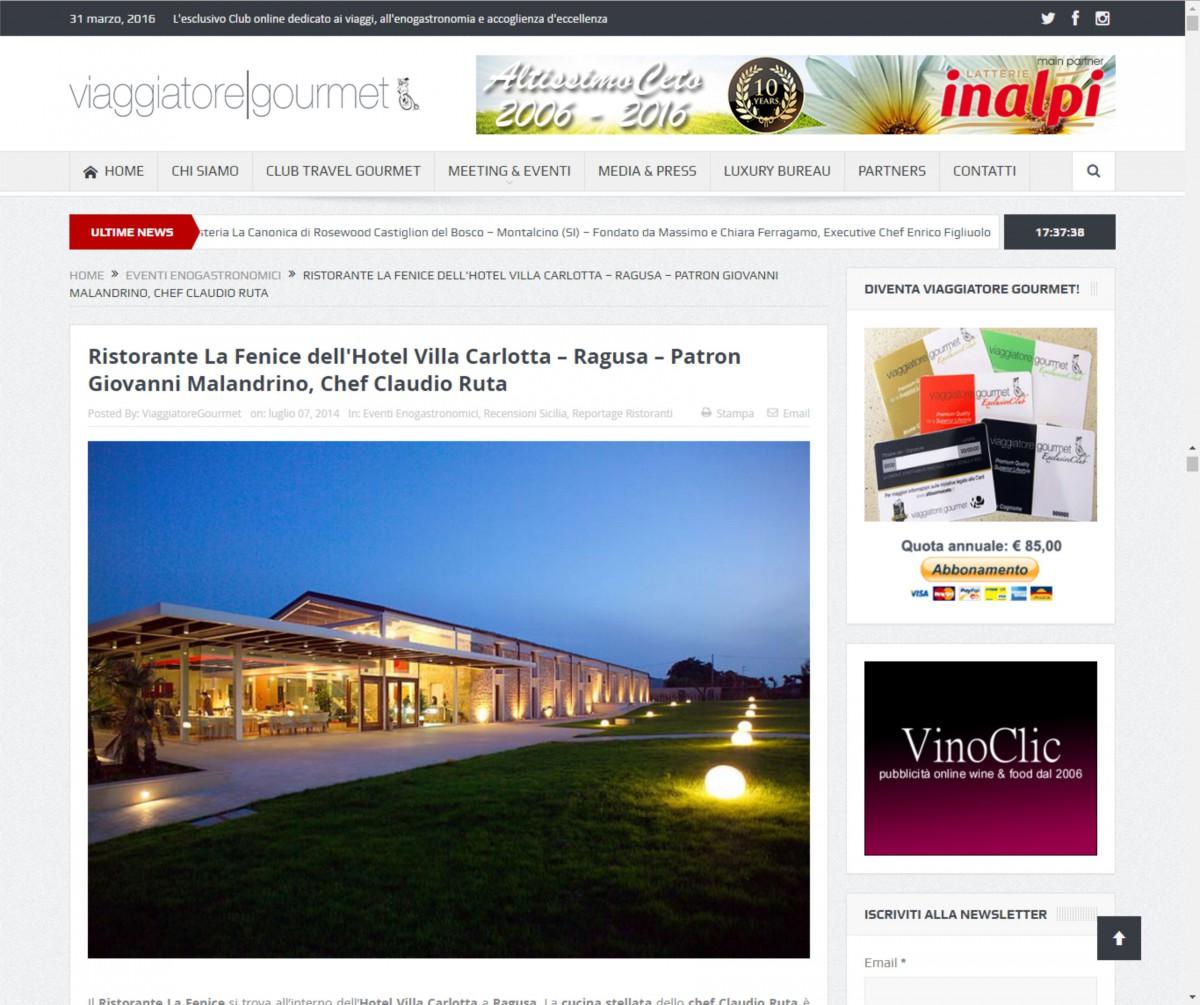 Ristorante La Fenice dell'Hotel Villa Carlotta su Viaggiatore|Gourmet