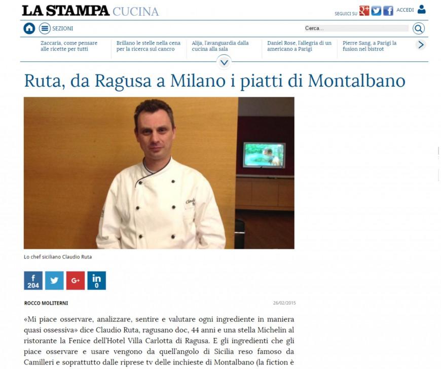 Ruta, da Ragusa a Milano i piatti di Montalbano