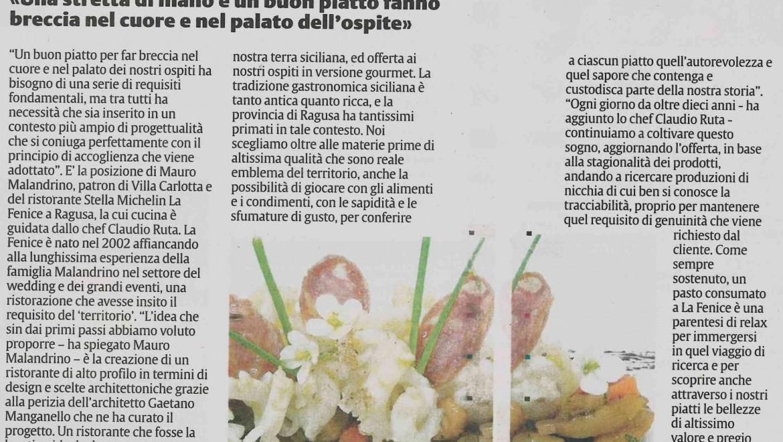 La Fenice sul quotidiano La Sicilia